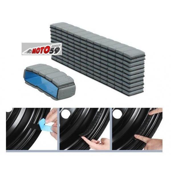masse autocollante plomb equilibrage pneus noir 12x5g. Black Bedroom Furniture Sets. Home Design Ideas