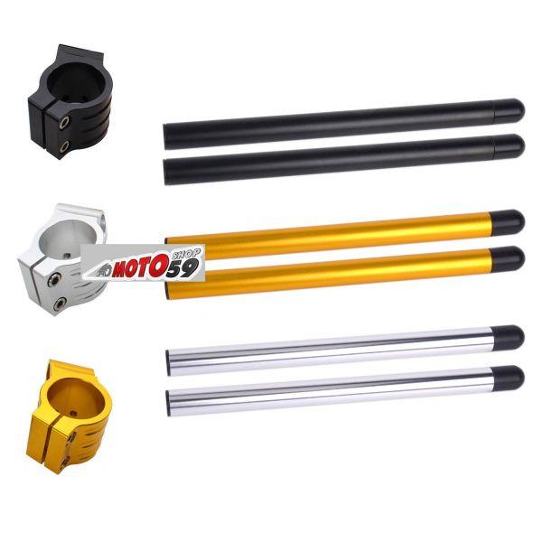 Paire de demi-guidons en acier galvanis/é pour moto Malanche DM 32 mm